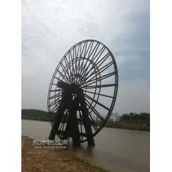 6米防腐木景观水车订做厂家图片