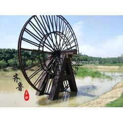 8米直径防腐木景观水车架图片