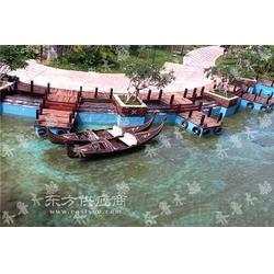 6米贡多拉房展中心观光手划船图片