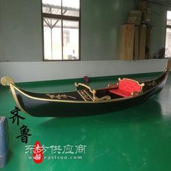3米威尼斯贡多拉风格装饰船图片