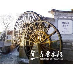 防腐木子母水车,景观水车生产厂家图片