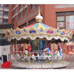 郑州金山游乐设备厂(多图)|甘肃旋转木马厂家|旋转木马厂家图片