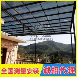 定制铝合金雨棚欧式别墅露台防晒遮阳雨棚 室户外阳台遮阳棚图片
