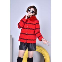 西兰汀18冬季水貂绒大衣品牌女装一手货源折扣图片