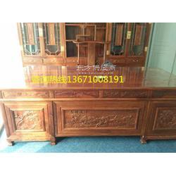 红木办公写字台仿古木质写字台图片