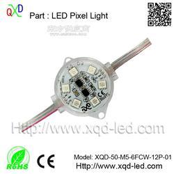 厂家直销4公分单色点光源 5050七彩点光源 LED广告亮化轮廓灯图片