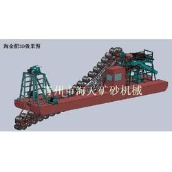 山东淘金船、海天机械、淘金船工作场景图片