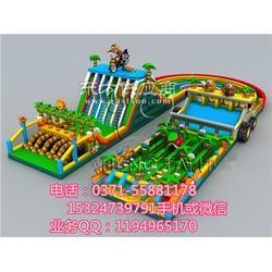 庙会小孩充气滑梯乐园,充气城堡滑梯乐园厂家图片