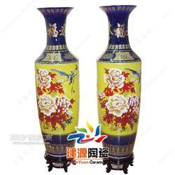 手绘花开富贵粉彩花瓶 1.2米陶瓷大花瓶图片