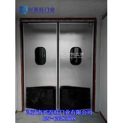 食品车间专用门-不锈钢自由门-不锈钢防撞门-不锈钢门图片