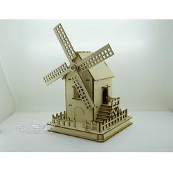 欢乐拼图-BM510全木系列风车手工艺品图片