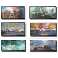共享油画(图)|手绘朱德群作品|朱德群作品图片