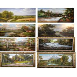 共享油画(图)|手工古典风景油画|古典风景油画图片