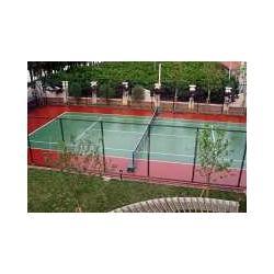 供应优质硅PU塑胶篮球场材料生产图片