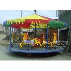 混凝土机械儿童转马、简易转马、昊童游乐图片