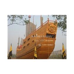 海盗船-复古木船订做-景区海盗船-供应防腐木游乐船-振兴景观图片