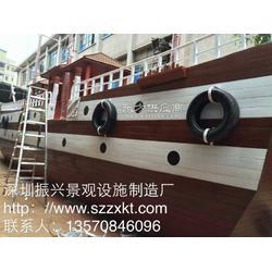 仿古景观船-木制海盗船-景观船厂家-景区景观船-振兴景观图片