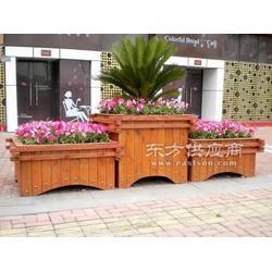 户外山樟木花箱,耐腐防锈,不易磨损木制花箱生产厂家图片
