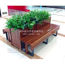 户外花箱坐凳组合图片