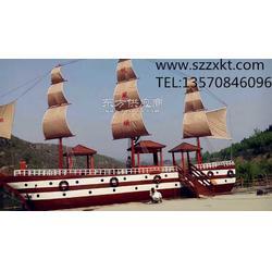 景观船哪家强-景区景观木制船-景观海盗船-振兴景观图片