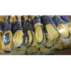 厂家专业供应黄色牵引绳,3/1650,带黑色护套图片