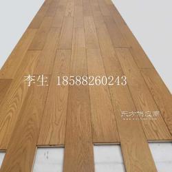 進口歐洲白橡木拉絲多層實木復合地板,柚木色橡木拉絲地板大圖圖片