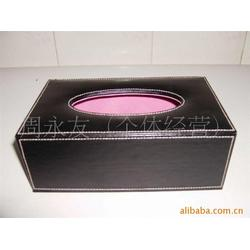 皮质纸巾盒供应商_永世嘉箱包厂_皮质纸巾盒厂家图片