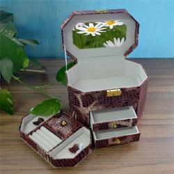 皮质首饰盒订做-西安首饰盒-永世嘉(首饰盒)图片