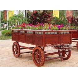 塑木花车订做-环卫花盆-花箱花盆-振兴景观图片