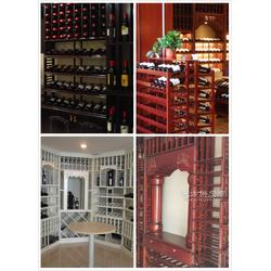 订制恒温恒湿酒窖酒柜酒架图图片
