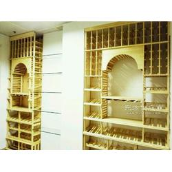 实木酒柜、恒温恒湿酒窖、实木红葡萄酒架图片