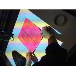 投影定位,飛織鞋面激光切割下料,鞋面投影定位激光切割機下料圖片