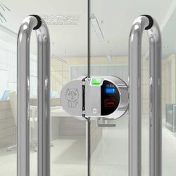 智能遥控无线双门玻璃门禁图片