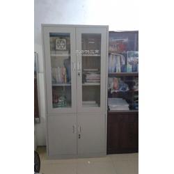 玻璃铁皮门的大器械柜 钢制文件柜图片