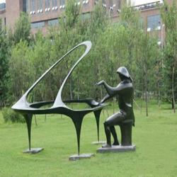 抽象雕塑 荷花|图木舒克抽象雕塑|腾艺雕塑(查看)图片