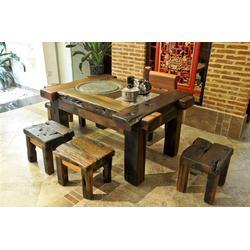 船印木作成都船木家具茶台(图) 内江古船木茶桌 船木茶桌图片