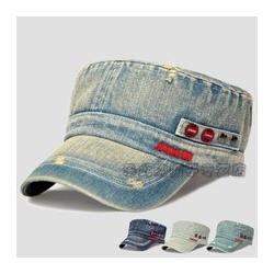水洗做旧平檐帽子、雄县盛冠服饰(已认证)、中卫帽子图片