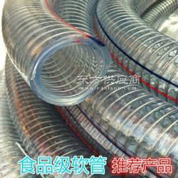 热销产品无毒无味优质PVC透明钢丝软管/红蓝边PVC增强钢丝软管图片