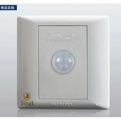 人体感应开关200W三线制世耐尔K4.0系列86型墙壁开关插座图片