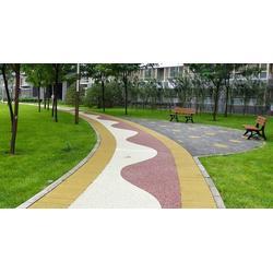 艺术地坪彩色压纹砼路面压花地坪印花路面图片