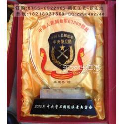 退伍军人水晶纪念品,赠送老兵退伍留念礼品图片