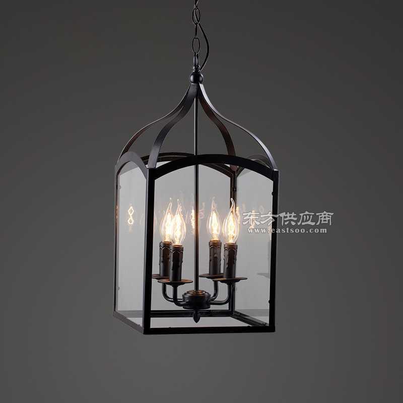 铁艺玻璃箱吊灯