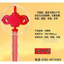 LED发光中国结 路灯杆装饰灯中国结不锈钢图片