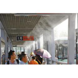 西宁喷雾降温|贝克造雾行业领先|停车场喷雾降温机图片