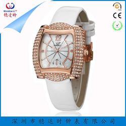 时尚女士镶钻手表定制工厂 女士礼品手表定制厂家 石英手表定制 稳达时图片