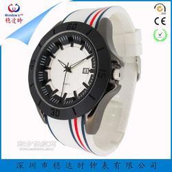 硅胶运动手表定制工厂 硅胶石英礼品手表定制厂家 稳达时钟表图片