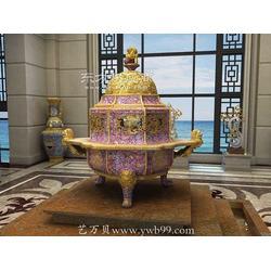 家居香炉装饰工艺品景泰蓝香炉香薰家居用品图片