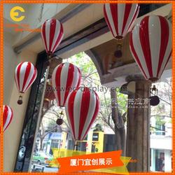 供应玻璃钢热气球橱窗气球道具定制 街景户外装饰仿真热气球道具定制图片