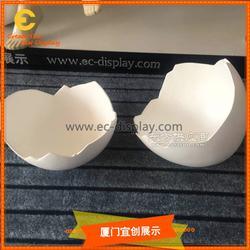大蛋壳陈列道具订制 树脂玻璃钢大蛋壳恐龙蛋大鸵鸟蛋道具制作图片
