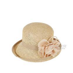 厂家定制帽子 新款夏季百搭女士蓝色草帽 精致草编碎花圆顶帽12图片
